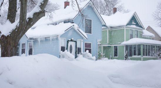 Sne på huse